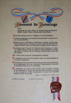 serment de jumelage Itterswiller-Ile-de-Bréhat