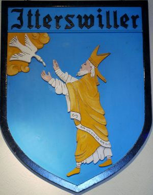 Blason d'Itterswiller représentant Saint-Rémi