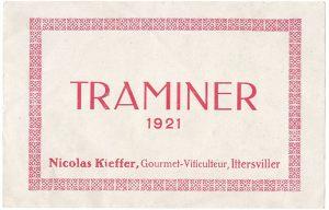 Etiquette de vin de Nicolas Kieffer 1921
