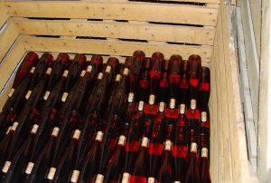 Pinot Noir dans les caisses palettes